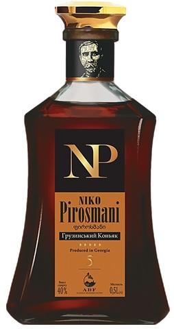 Коньяк грузинский НИКО ПИРОСМАНИ 5, выдержка 5 лет 0,5л.