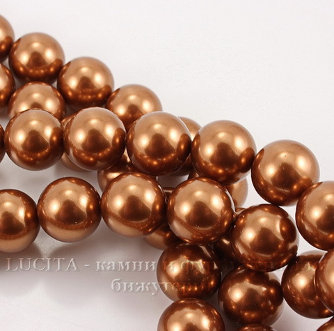 5810 Хрустальный жемчуг Сваровски Crystal Copper круглый 8 мм , 5 шт (Crystal Copper 1)