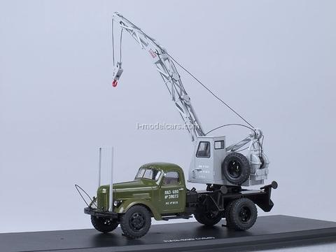 ZIL-164 Truck Crane LAZ-690 khaki-gray Start Scale Models (SSM) 1:43