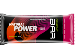 Батончик PowerUp Natural Power Bar Fruit & Nuts - финики, клюква, фундук, кокос