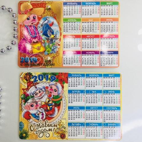 Календарь на магните символ года 2019