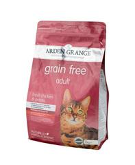 Arden Grange Adult корм беззерновой для кошек с Курицей и картофелем 2 кг