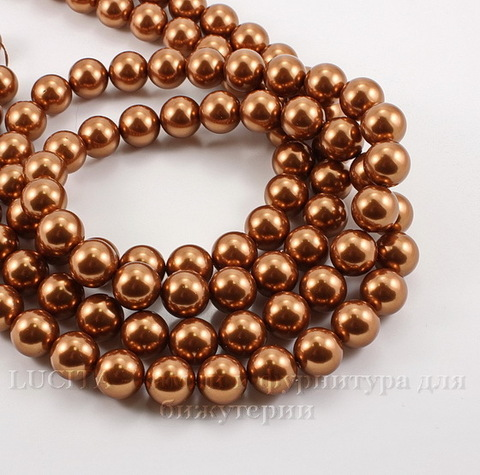 5810 Хрустальный жемчуг Сваровски Crystal Copper круглый 8 мм , 5 шт (Crystal Copper 2)