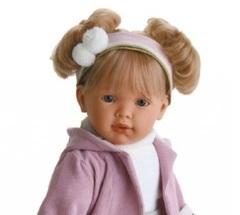 JUAN ANTONIO munecas Кукла Лула в сиреневом озвученная, 55 см (1024L)