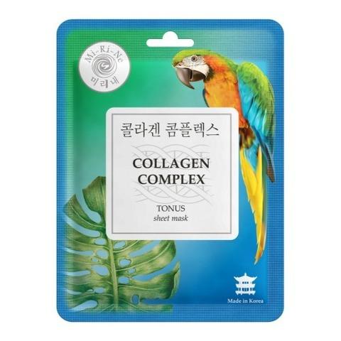 Mi-Ri-Ne Тканевая маска для лица Тонизирующая Collagen Complex 23г