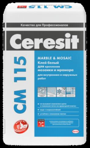 Плиточный клей Церезит СМ 115 Marble&Mosaic 25 кг
