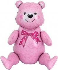 К 32''/81 см Фигура, Сидячий мишка, Розовый, 1 шт. в упак.