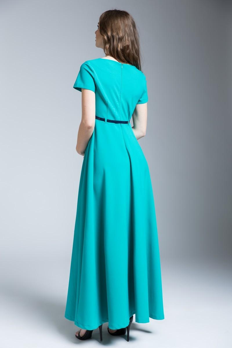 Платье для беременных и кормящих 09274 зеленый