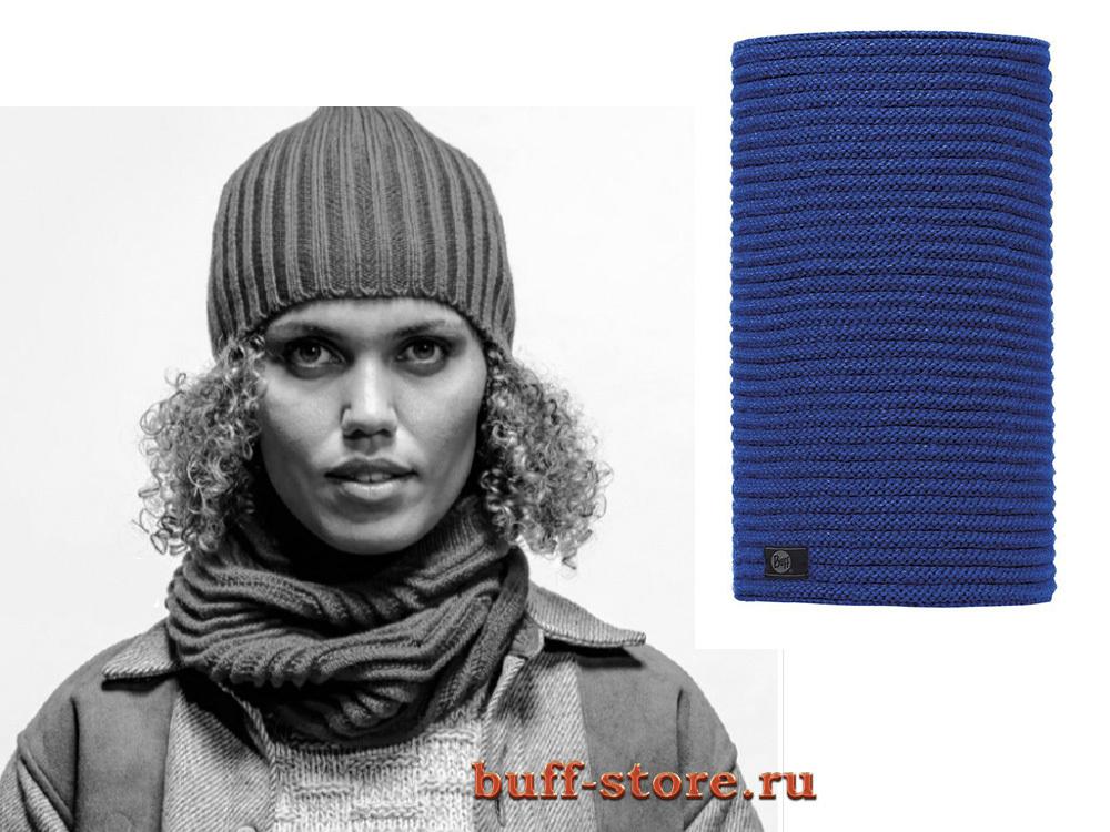 Вязаные шарфы Модный шарф-труба Buff Cozy Blue Surf 0955.jpg