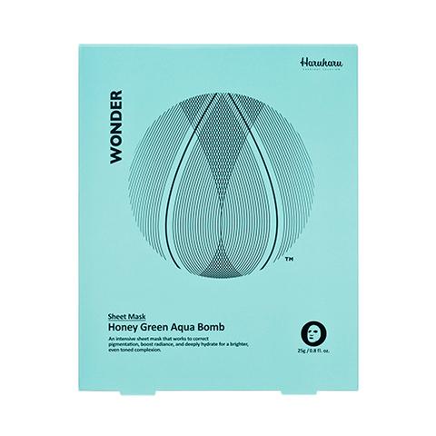 Маска Haruharu WONDER Honey Green Aqua Bomb Mask 5 шт.