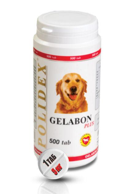"""Витамины POLIDEX """"Гелабон Плюс"""" профилактика и лечение заболеваний суставов, костей для собак _polidex_gelabon_plus_500_tab_polideks_gelabon_plyus__2015-12-24_103920.jpg"""