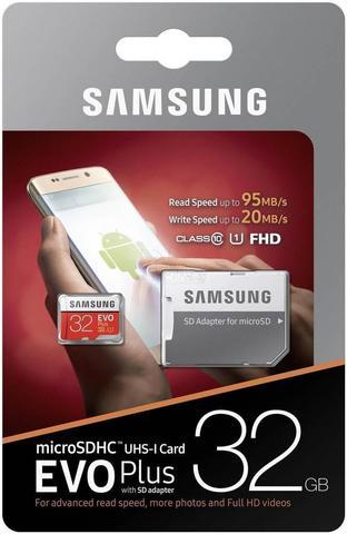 Карта памяти Samsung microSDHC 32 Гб, EVO Plus