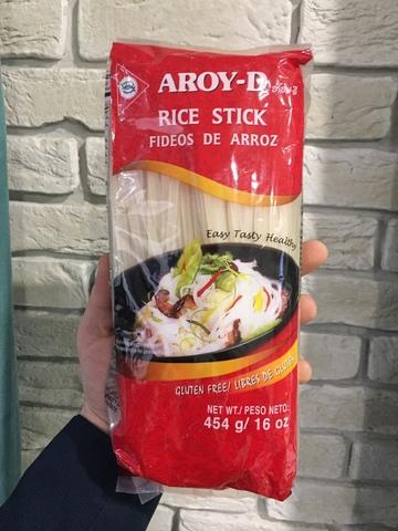 Лапша рисовая 5мм, 454гр, AROY-D  (ТАЙЛАНД)