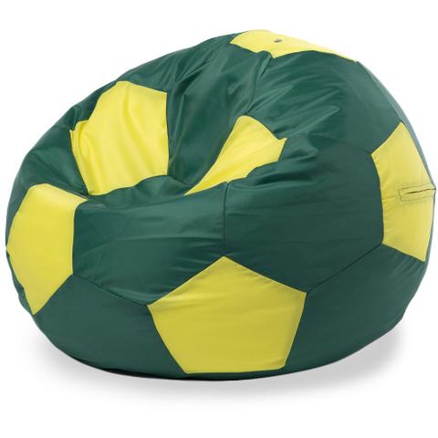 Бескаркасное кресло «Мяч» XXL, Зеленый и желтый