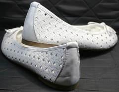 Женские кожаные балетки Vasari Gloria 19Y38860-37 White.