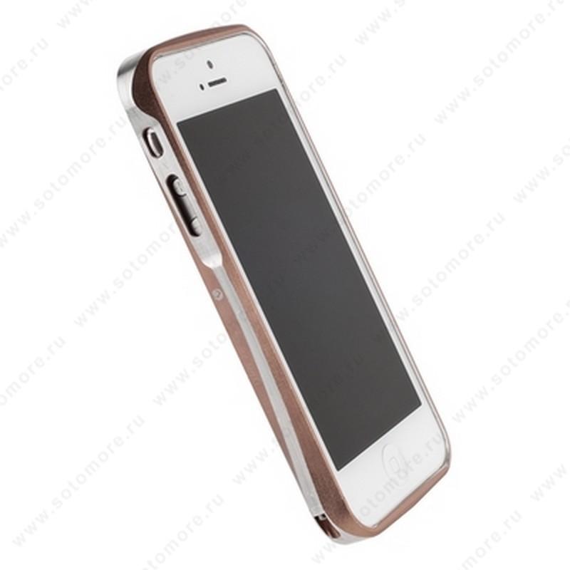 Бампер Deff CLEAVE алюминиевый для iPhone SE/ 5s/ 5C/ 5 A6061 коричневый