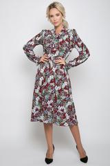 """<p>Платье из лёгкой ткани сделает Вас женственной и недосягаемой. Отрезное по талии на резинке, юбка """"полусолнце"""", рукав длинный, ворот - бант. Отличное решение для романтичной особы!&nbsp;(Длины: 44-46=104см; 48-50=106см)&nbsp;</p>"""