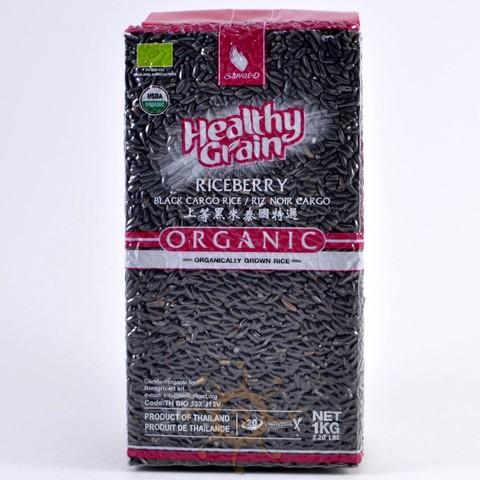 Органический тайский черный рис жасмин SAWAT-D, 1кг