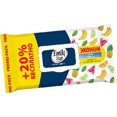 Салфетки влажные Emily Style Tropic   100+20шт/уп. с клапаном