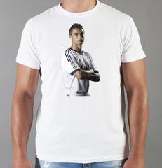 Футболка с принтом Криштиану Роналду (Cristiano Ronaldo) белая 006