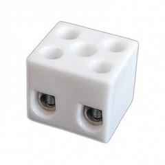 Керамическая клемма 2 х 10 мм², с крепежным отверстием