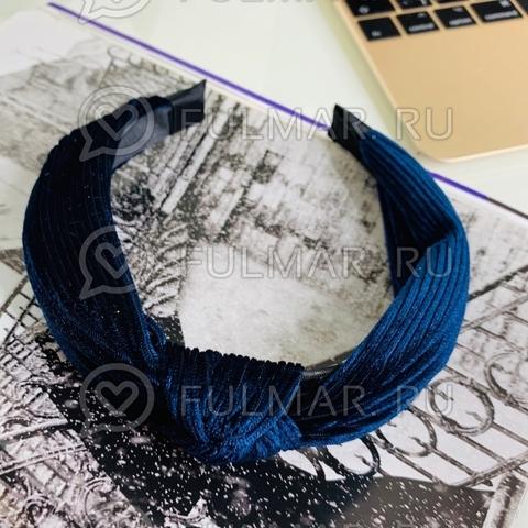 Ободок-чалма для волос (цвет: Темно-синий)