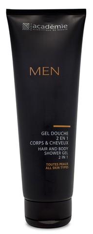 Academie Men Gel Douche 2 en 1 Corps Et Cheveux Hair & Body Shower Gel 2 in 1