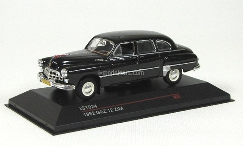 GAZ-12 ZIM Limousine black 1952 IST024 IST Models 1:43
