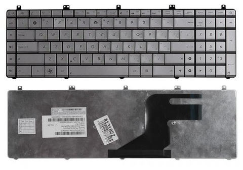 Клавиатура для ноутбука ASUS N55 N57 N55S N55SF N55SL N75 N75SF N75SL N75S N75Y серебристая