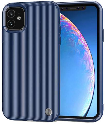 Чехол iPhone 11 цвет Blue (синий), серия Bevel, Caseport