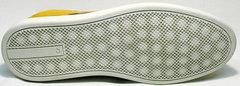 Молодежные мужские туфли на плоской подошве King West 053-1022 Yellow-White.