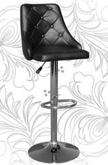 Черный барный стул с высокой спинкой 5021