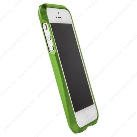 Бампер MIE COOL алюминиевый для iPhone SE/ 5s/ 5C/ 5 A6063 зеленый