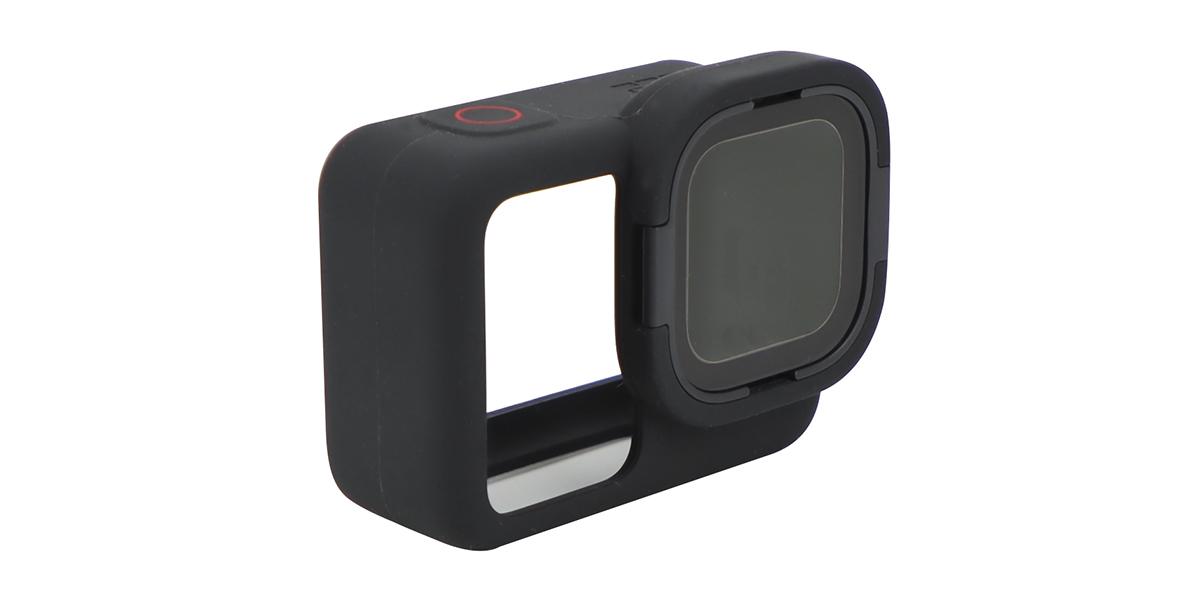 Защитный чехол и линза Rollcage для камеры HERO8 GoPro (AJFRC-001) вид слева