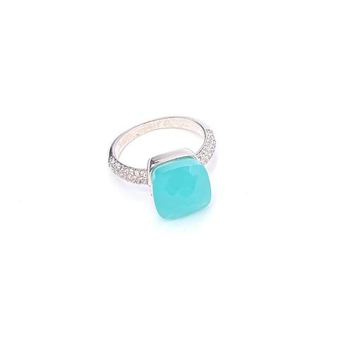 33310- Кольцо Caramel из серебра с мятным кварцем