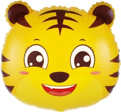 Шар (20''/51 см) Фигура, Голова, Маленький Тигр, 1 шт.