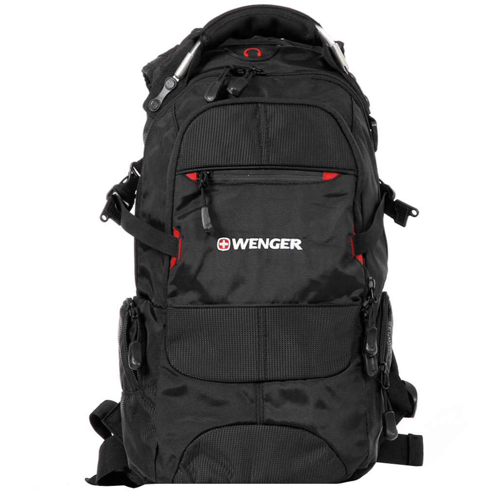 Рюкзак Wenger Narrow Hiking Pack, чёрный, 23х18х47 см, 22 л
