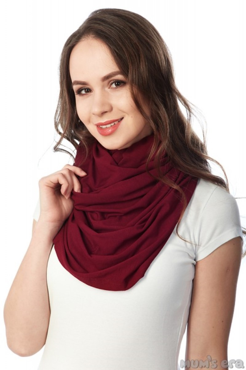 Накидка-шарф для кормления 09723 бордовый