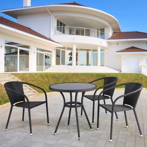 Комплект плетеной мебели T282ANS/Y137C-W53 Brown 3Pcs