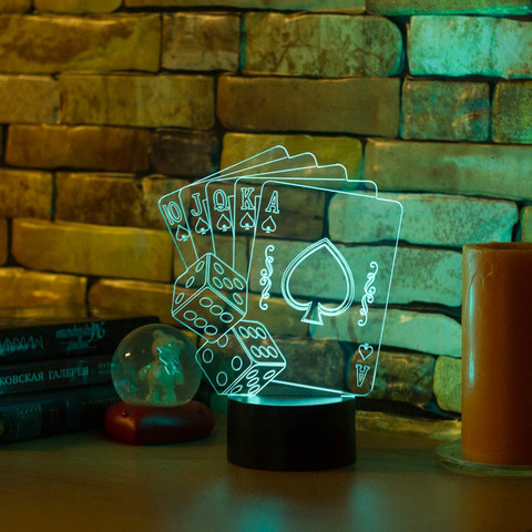 3D ночник Флэш-рояль