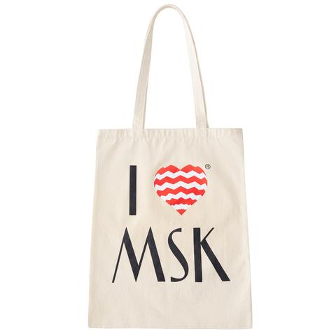 Холщовая сумка I Love MSK