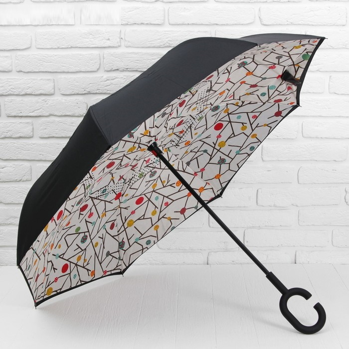 Зонт - наоборот «Веточки», механический фото