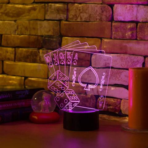 3D светильник Флэш-рояль