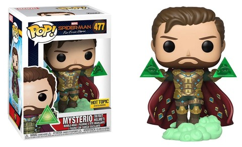 Фигурка Funko POP! Bobble: Marvel: Spider-Man: Far From Home: Mysterio w/o Helmet (Exc) 39813