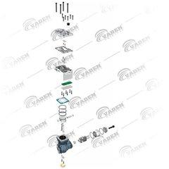 Компрессор МАН ТГЛ/ТГМ  Воздушный компрессор MAN TGL одноцилиндровый.  WABCO - 9121160000  OEM MAN - 51541007071