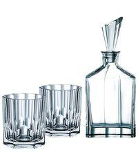 Набор из 2 хрустальных стаканов для виски и декантера Aspen, фото 1