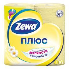 Туалетная бумага Zewa плюс 2-х слойная Ромашка 4 шт