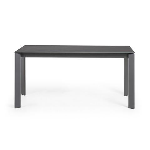 Стол Atta 160 (220) x90 графит керамический