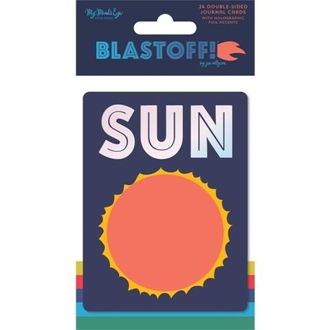 Журнальные карточки 7,5х10 см - Blastoff от MME- 24 шт.