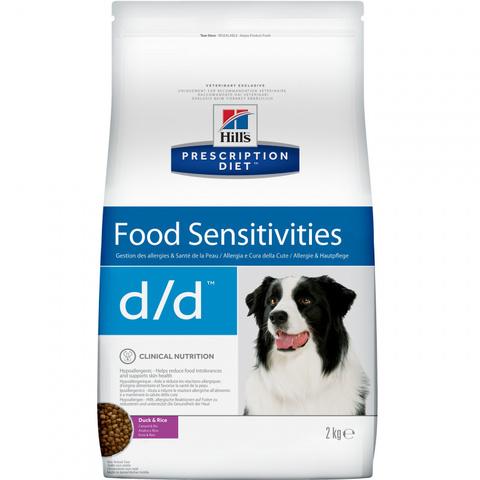 Hill's диета сухой корм для собак D/D Утка/Рис лечение пищевых аллергий 2кг